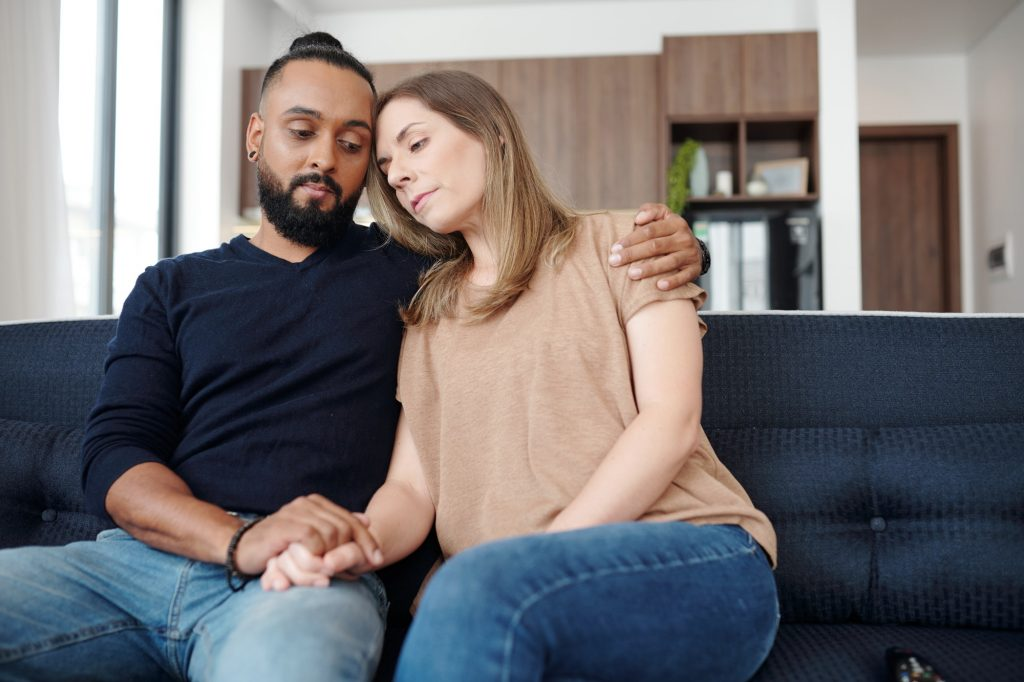 Couple suffering from loss